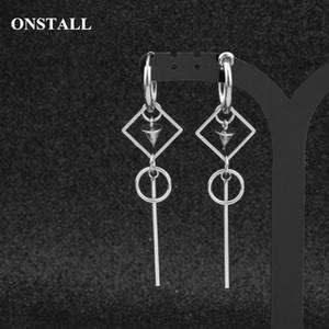 ONSTALL 19 Korean Fashion Jewelry male Bangtan men earring Drop Earring For Women Vintage Long Men Geometric