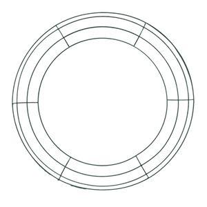 New Eisen Blumenkranz Draht-Kranz-Rahmen Draht Herstellung von Ringen für die neue Jahr Valentines Dekoration (14 Zoll)