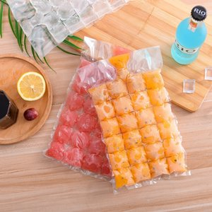 E1z02 Creative refrigerator bag cubes Cold drink cubes cold drink Popsicle latt making mold disposable cube ice grinding tool ice bag 10 pie
