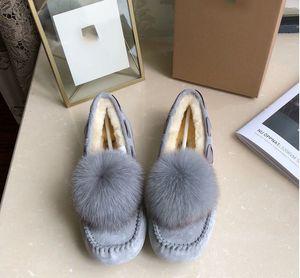 Moda Kalite Avustralya Yün KAR BOT ONLINE Yeni W Solana Loafer Püsküller Sliper Kar Boots Sürüş Ayakkabı Kadın Ayakkabı 35-40