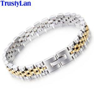 TrustyLan luxe en acier inoxydable Bracelet hommes d'or Bracelets Bracelet design hommes Bangles pour les cadeaux de bijoux homme pour lui