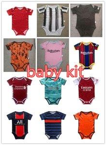 2020 2021 camisetas de fútbol del bebé de 6 a 18 meses kits para bebé camisas de fútbol de bolas escuadra Body 20 21 Rastreo de ropa maillots de futbol
