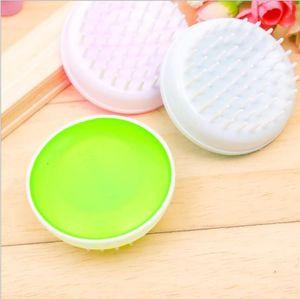 Colorful Round Shampoo Comb Toiletries Hot-Selling Massage Shampoo Brush Bath Cleaning Wash Brush 017