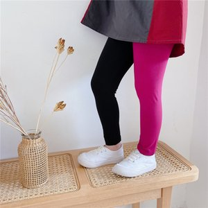 Newest INS Spring kids girl pants leggings patchwork kids cotton fashion lace patchwork leggings children autumn girls cute bow pants