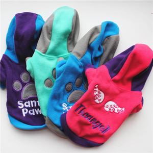 Cachorro Fleece camisa, Pet Dog letras divertidas ropa de abrigo de primavera suéter ropa, otoño, invierno de moda para perros pequeños 23 JulyZ4