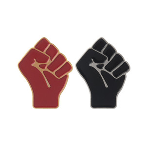 Raised Fist e solidale dello smalto Pin spilla in metallo Rosso Nero Spille Accessori per abbigliamento piccolo e grazioso 1 68zb E2