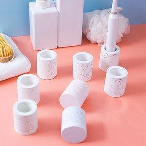 Diatomea Fango Portaspazzolino Bagno rapida asciugatura assorbente Spazzolino elettrico Base Nordic Style dentifricio supporto della sede di yq02170