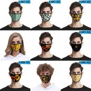 Ayçiçeği 3D Dijital Baskı Facemask Yüksek Elastik Kumaş Kumaş Yüz Maske Yeniden kullanılabilir Karşıtı Haze toz geçirmez mascarilla ile kalkan 2 2mlg B2