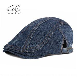 Washed denim men's Korean British Cap women's casual forward cap cotton beret hat beret hat fashion
