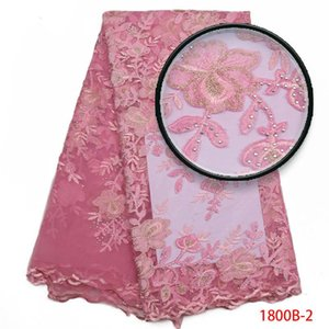 Latest African Tulle French Lace Fabric Laser Swiss Voile Lace Fabric.High Quality Nigerian Wedding African Lace Fabric AMY1800B