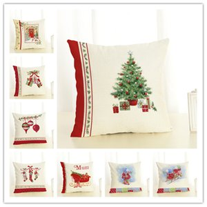 New Christmas Gift Cotton and Linen Pillow Office Home Cushion Wholesale Can Be Customized 90G Pillow Case