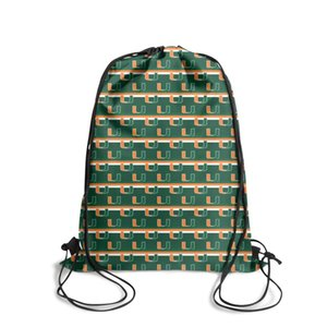 Miami Hurricanes football Green Fashion Sports Belt Backpack,Design Cool Suitable For Outdoor gray black Orange and white USA flag tree