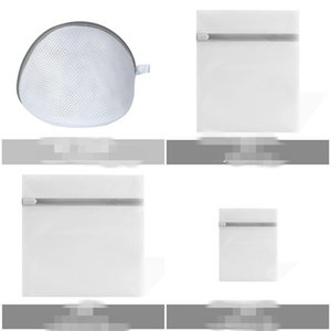 New Grosso malha saco de lavagem lavar a roupa tratamento de roupa Sacos Multi Função Simplicidade Multiscale de fibra de poliéster cinza Zipper ME3 D2