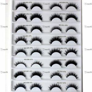 CURSAVELA 3D Silk Wimpern 1 Paar Natürliche handgemachte Volume weiches Lashes für Makeup Fluffy Thick Wiederverwendbare bequemen schwarzen Lash