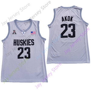 2020 Yeni NCAA Connecticut UConn Huskies Formalar 23 Akok Koleji Basketbol Jersey Gri Boyut Gençlik Yetişkin