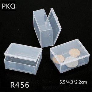 20 tamanhos caixa de armazenamento pequeno Limpar Retângulo Para Jóias Organizer Diamante Bordados Artesanato Bead Pill Início caixa de plástico CX200716