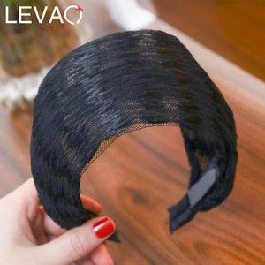 Levao 2020 New Fashion Women Elastic Stretch Wide Lace Hairbands Headband Lady Head Wrap Turban Hair Hoop Hair Accessories