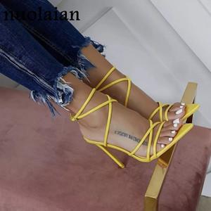 das mulheres Verão Calçados Sandália sapatos caros de casamento Mulher Leather Sandals Lady partido sapatos de salto alto Chaussure Mulheres Peep Toe Bombas Y200620