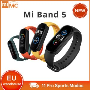 2020 Xiaomi Mi Band 5 Bracelet 4 puce couleur AMOLED écran Miband 5 Fitness Tracker Sport étanche Smartband Bluetooth 5.0