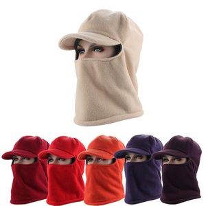 Açık Kış Maskeleri kalın Fleece Barakra Sıcak Hat Bisiklet Motosiklet Kayak Spor Windproof Cap Taktik Şapka DH0348 Maske Caps