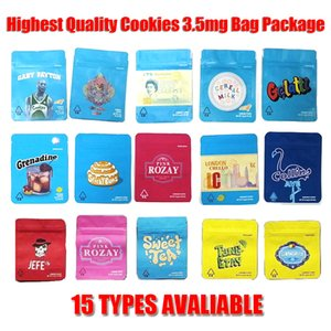 Cookies Bag 3,5 grammi Packaging Borse Odore Proof Childproof California Cheetah Piss Gelatti Gary Payton Londra Pound Cake cereali Latte