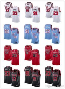 Para mujer para hombre de la JuventudChicagotoros91 DennisRodman 23 Michael 33 ScottiePippen personalizada Negro Rojo Blanco jerseys del baloncesto