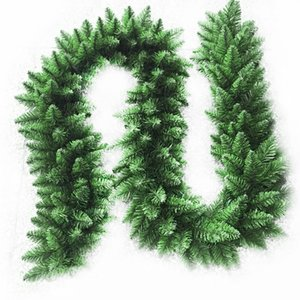 2.7m Artificial Green Christmas Garland Wreath Xmas Home Party Christmas Decoration Pine Tree Rattan Hanging Ornaments