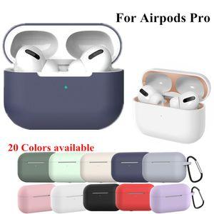 Silicone della copertura per Apple Airpods Bluetooth di caso adesivo pro caso per AirPod 3 per Air Pod Pro auricolare accessori di pelle