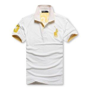 2020 Poloshirt Твердая поло Мужчины Роскошные рубашки поло с длинным рукавом Мужская Basic Top хлопчатобумажных Polos Для мальчиков Марка Дизайнер Polo Homme