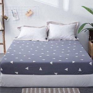 1pc 100% Polyester Fied Blatt Maress Abdeckung Drucken-Bettwäsche Leinen Bettlaken mit elastischem Band LDBD #