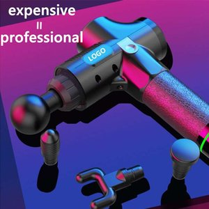 In Stock Massage Gun Fascia Gun Sport Therapy Muscle Massager Body Relaxation Pain Relief Slimming Shaping Massager With LCD Display