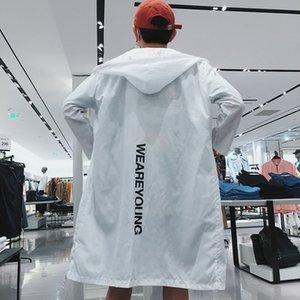 1VBnf 2019 verano mitad de la longitud de moda al aire libre par de desgaste de la ropa pareja suelta delgadas protector solar ropa de los nuevos hombres de la protección solar de tela de prendas de vestir de los hombres