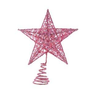 20cm Christmas Tree Iron Star Topper Glittering Christmas Tree Decoration Ornaments Decorations