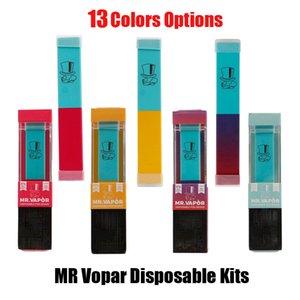 13 couleurs Mr vapeur à usage unique Pod Vape de l'appareil prérempli cartouche 280mAh vide E Cig Pen Starter Kit pour Bar Air