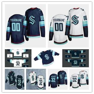 NWT 2020 Seattle Kraken-Hockey Jersey Gewohnheit irgendein Name Jede Zahl genähte Uniformen Männer Frauen Jugend Größe S-3XL Günstige