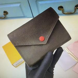 Classic Victorine Emilie Button Women Brevi portafogli Fashion Mostra la custodia in pelle esotica Portamonete rotonda Porta carte da portata M62472 M41938 M62360