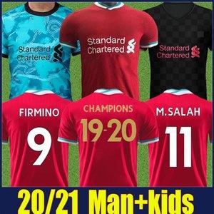 2020 İngiliz futbol Kulübü Reds futbol formaları adam çocuk formalarını yetişkin çocuklar kiti futbol üniforma 20/21 Şampiyonlar Jersey