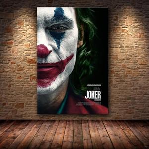 Joker Movie Poster персонализированный DC Comic Wall Art Холст Картина Хоакин Феникс Плакат распечаток на стене Картины для гостиной Home Decor