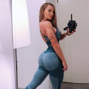 Femmes Yoga Pantalons leggings Sexy Sport Push Up Collants Gym Exercise taille haute Fitness Course athlétique Pantalon Trainning Porter lZME #