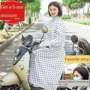 iecrd Windproof motorcycle vehicle electric vehicle long sleeve riding and long shirt shawl pure cotton Women's UV protection electric car m