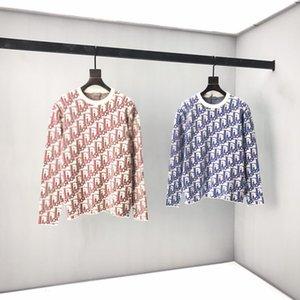 Nuovo AOP jacquard lettera maglione lavorato a maglia in autunno / inverno 2020 personalizzato macchina per maglieria jacquard ampliato dettaglio equipaggio cotone collo n1