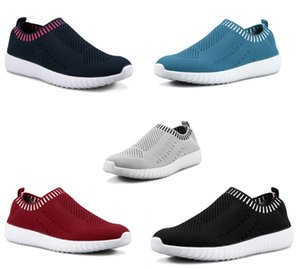 Best selling large size women's shoes flying women sneakers one foot breathable lightweight casual sports shoes running shoes