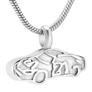 Car Memorial Urns For Stainless Steel Cremation Jewelry For Men Women Keepsake Pendant Necklace Free Engrave