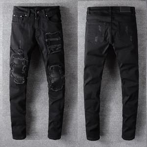 20SS Mens Designer Famous Mens stylist Jeans Men Women Distressed Ripped Jeans Mens Motorcycle Biker Slim Skinny Jeans Classic Pants