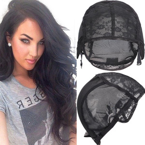 New Fashion Black Weave Caps for Sew in Hair Weft Large Medium Small Wig Cap for Making Wigs with Adjustable Strap Stocking