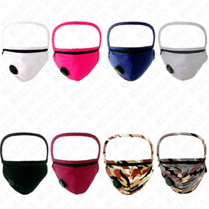 Unisex Zipper Removable Face Masks Anti-fog Full Face Protective Masks Cotton Adjustable Can Installed Filters Cycling Mask Covers D72710