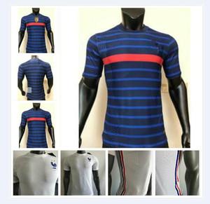 Jogador Versão 2020 2021 França Jersey Mens # 10 Mbappe Camisa Mens # 7 Griezmann Kante Varane Futebol Uniforme