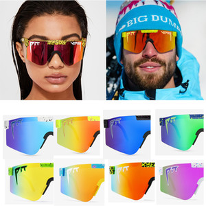 2020 Nuevas gafas de sol de gran calidad de alta calidad de alta calidad espejado polarizado lente rojo TR90 Frame UV400 Protection Men Sport Pit Viper