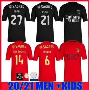 홈 (20) (21) SL 벤피카 축구 유니폼 떨어져 2020 2021 라파 jota PIZZI GRIMALDO 루벤 T SEFEROVIC 비니 남자 아이 키트 축구 셔츠 유니폼