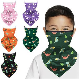 3D Magic Dinosaurier Bandana Kinder Waschbar Schutz Kopfbedeckung magischer Schal im Freien Multifunktionslauffahrrad Mascarillas Schal DDA288